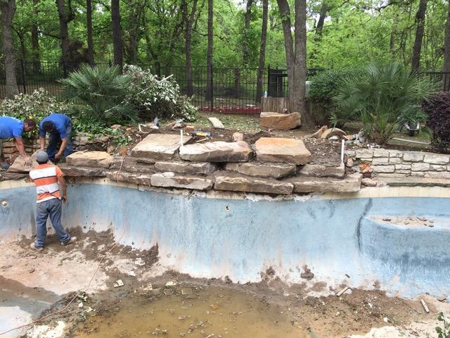 Pool Remodeling - Masonry
